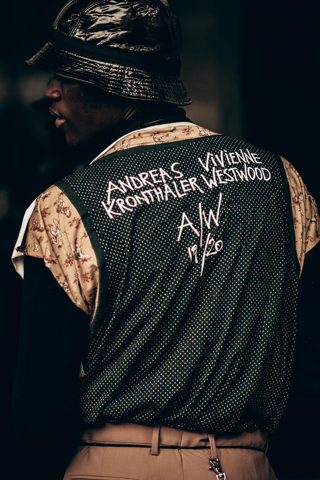 street style photography at Paris Fashion Week Vivienne Westwood