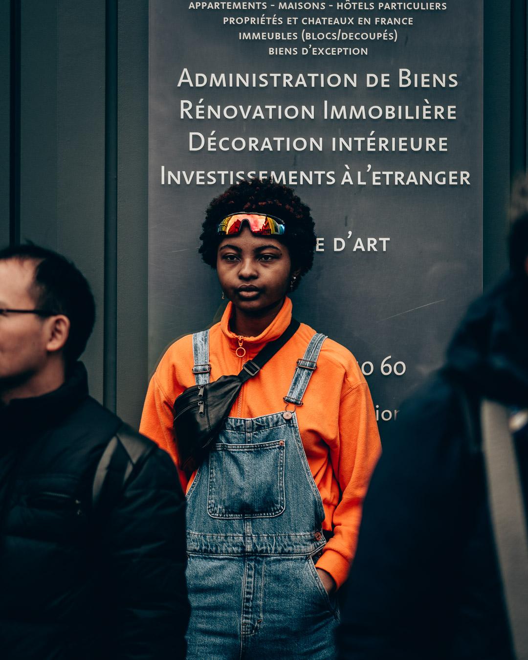 street fashion portrait photography at Paris Fashion Week