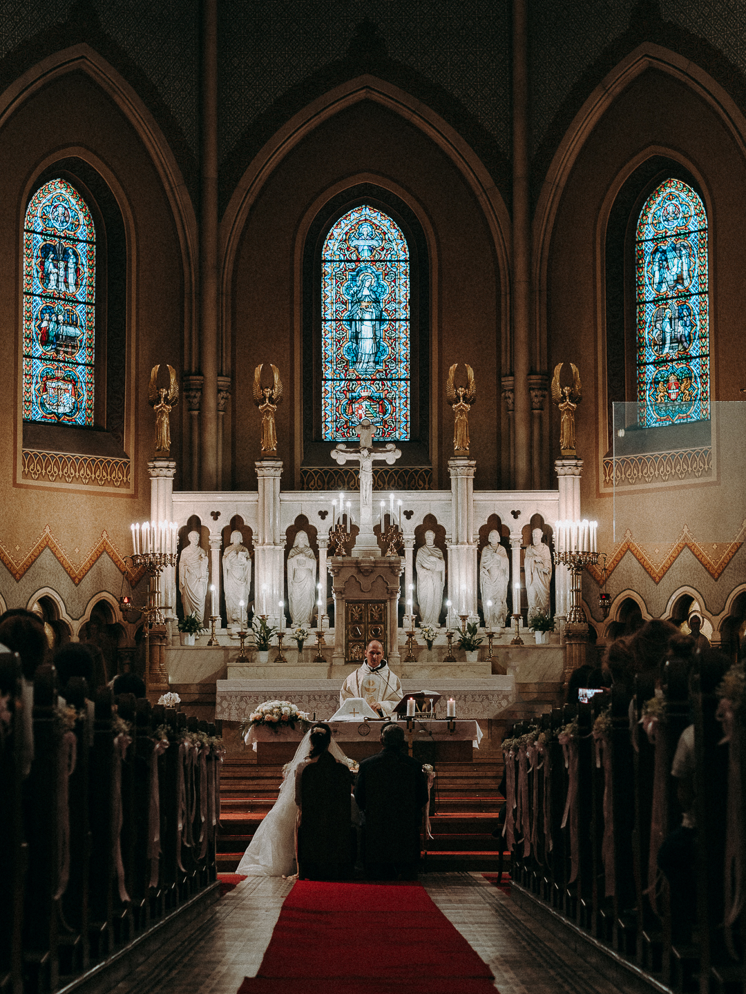catholic wedding photo at the church